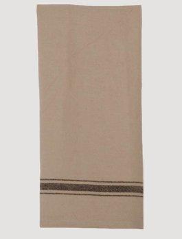 Grain Sack Stripe Towel Black