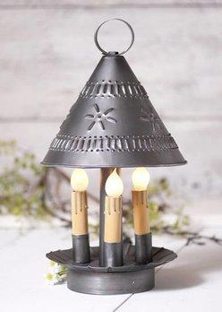 Irvin's Tinware Church Light in Antique Tin