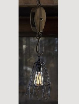 Pulley Pendant Light