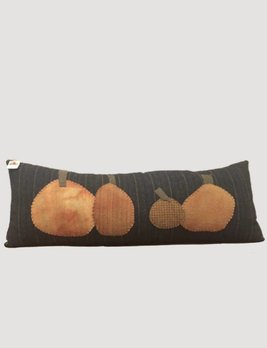 Long Wool Pillow with Pumpkins
