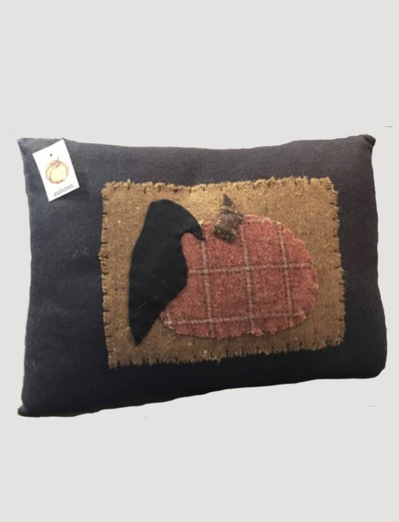 Black Crow Pillow with Pumpkin