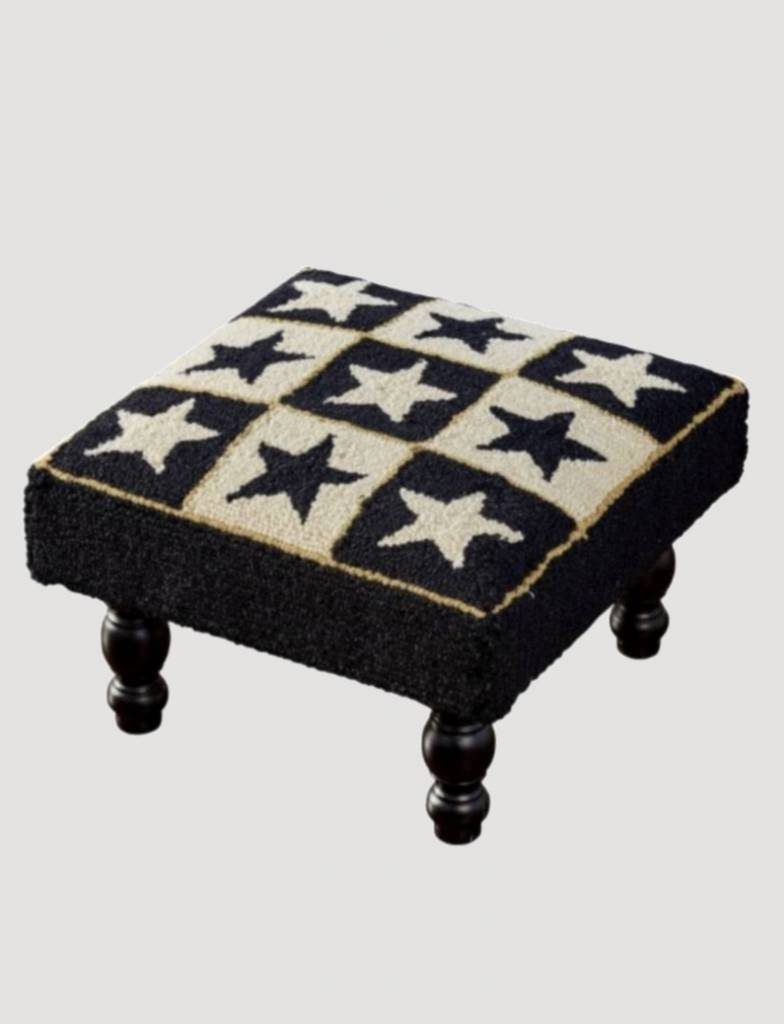 Park Designs Black Star Hooked Stool