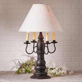 Bradford Lamp with Ivory Linen Shade