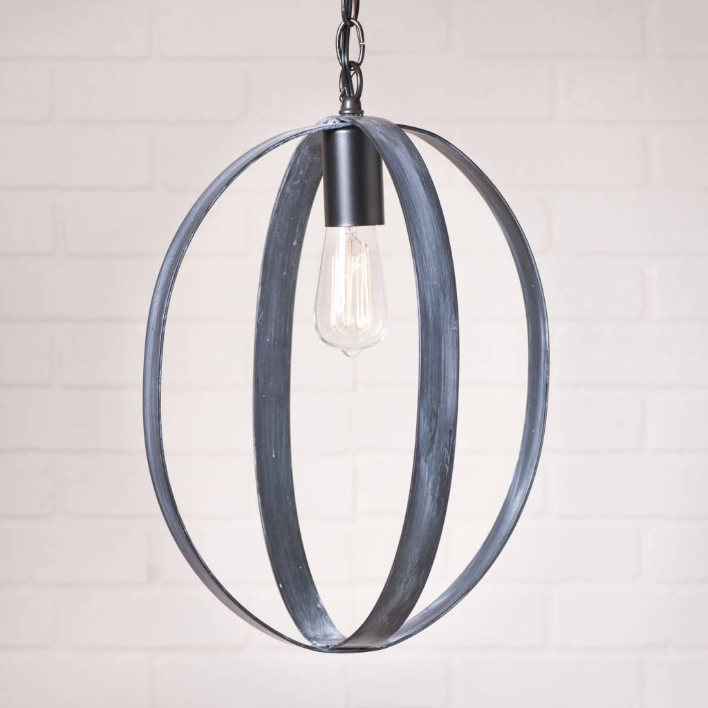 16-Inch Oval Sphere Pendant in Black
