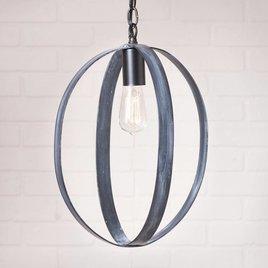 Irvin's Tinware 16-Inch Oval Sphere Pendant in Black
