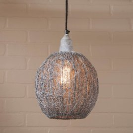 Nesting Wire Pendant in Weathered Zinc