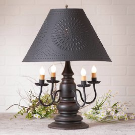 Harrison Lamp with Textured Black Shade