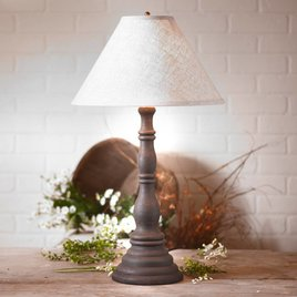 Davenport Lamp with Ivory Linen Shade in Hartford