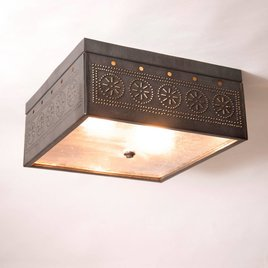 Square Ceiling Light with Chisel