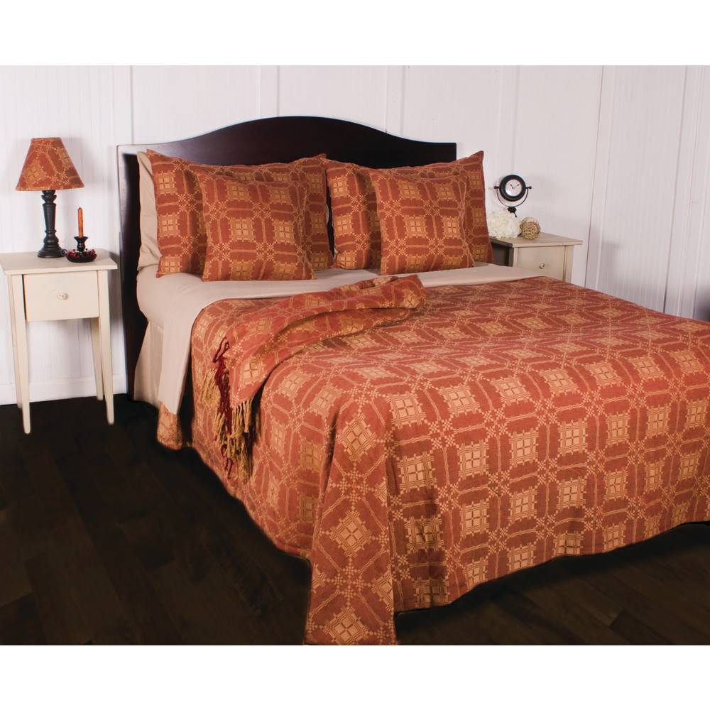Smithfield jacquard pillow sham red nana 39 s farmhouse for Home decor 756 lemay ferry