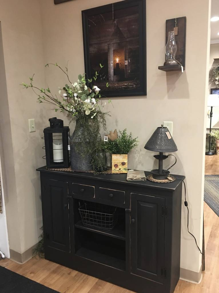 Black Buffet with Drawers