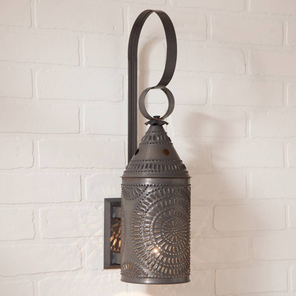 Wall Lantern in Blackened Tin