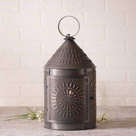 Irvin's Tinware Fireside Lantern in Blackened Tin
