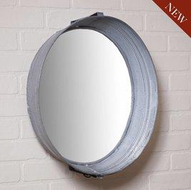 Washtub Mirror in Weathered Zinc