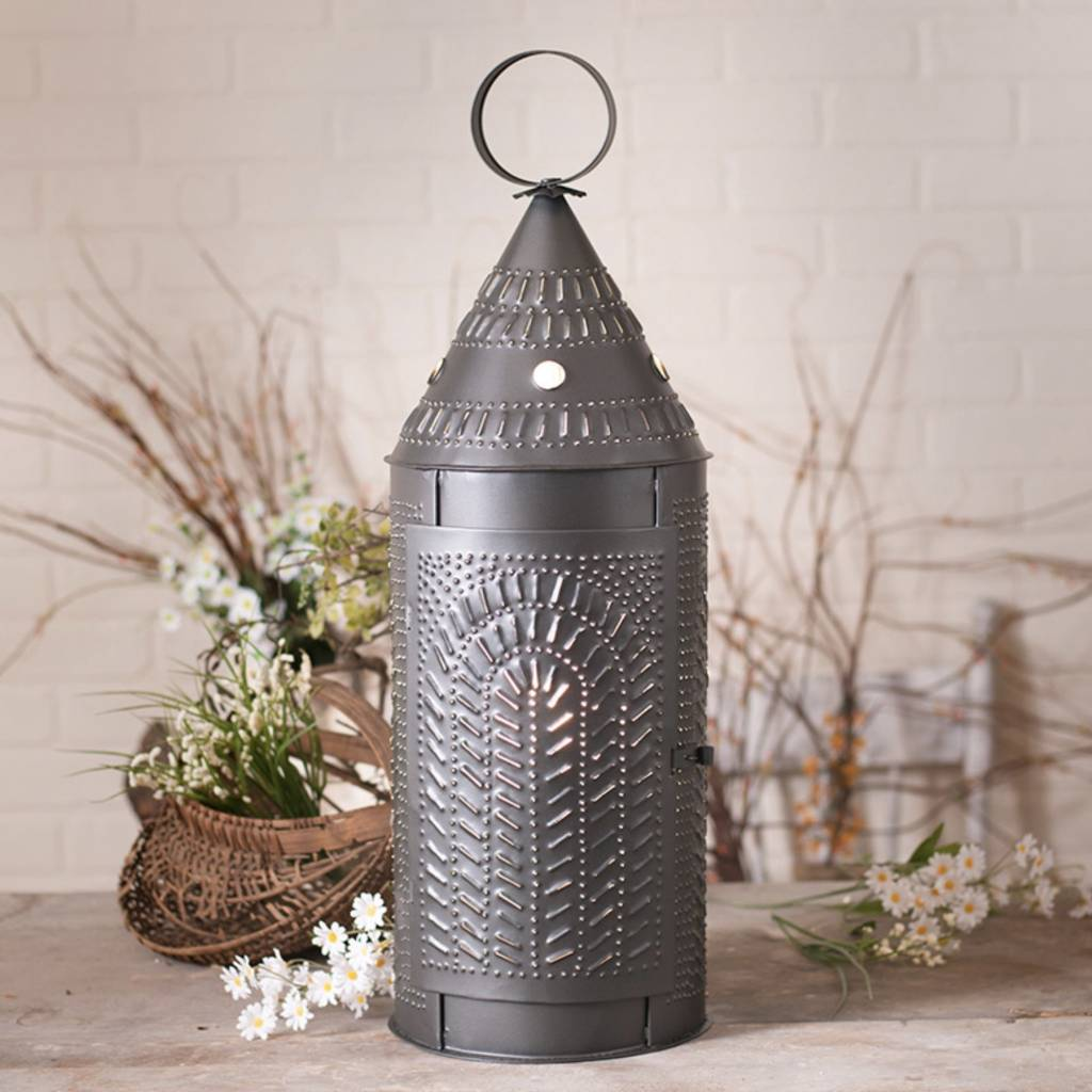 Irvin's Tinware Cathedral Punched Tin Lantern