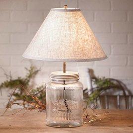 Irvin's Tinware Large Ribbed Mason Jar Lamp