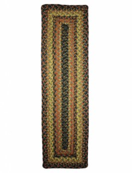 "Fireside Jute Braided TableTop 8"" x 28"" Table Runner Rectangle"