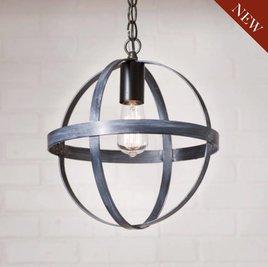 Irvin's Tinware 12-Inch Strap Sphere Pendant in Black