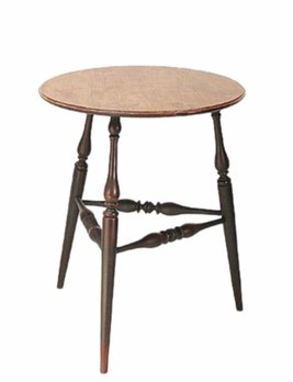 "Lawrence Crouse Workshop Windsor Candlestand Side Table 24"" Top"