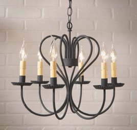 Georgetown Chandelier in Textured Black - Large