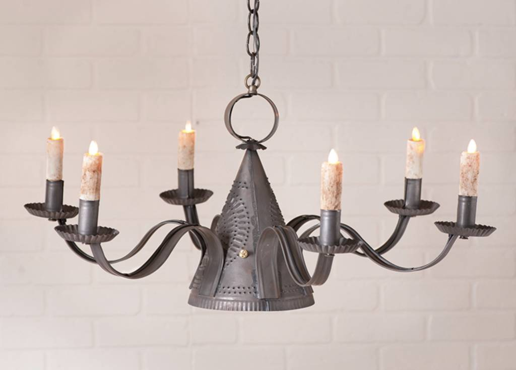 tin lighting. irvinu0027s tinware millhouse chandelier in blackened tin