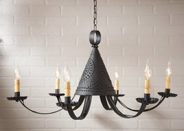 Irvin's Tinware Pennycress Punched Tin Chandelier