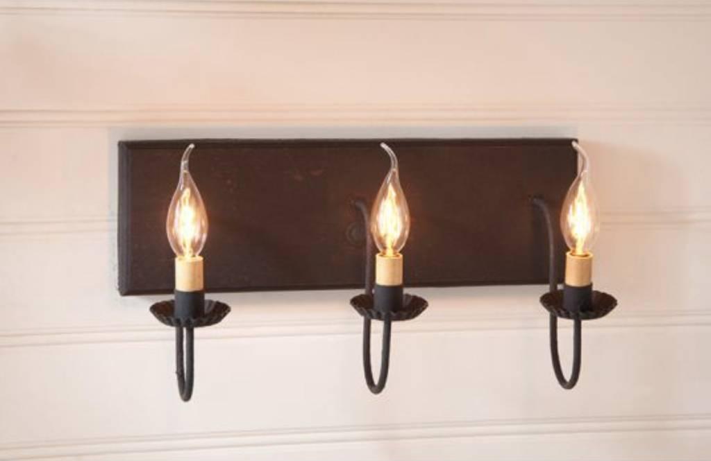Irvin's Tinware Three Light Vanity Light in Hartford