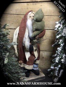 Arnett's Arnett's Red Santa with Cloth Tree JC18