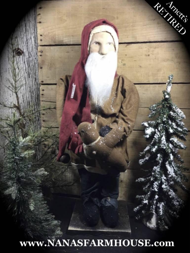 Arnett's Santa Holding Gingerbread JC5
