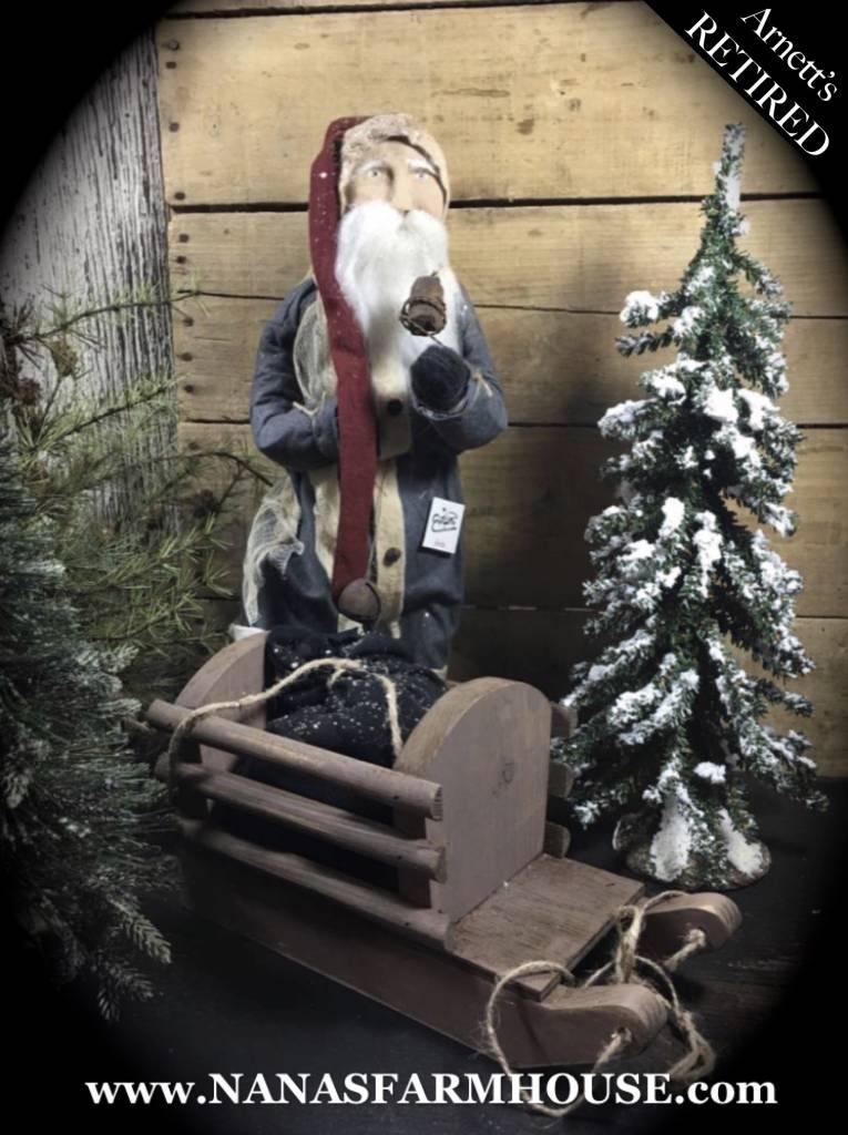 Arnett's Santa Blue with Candle & Pull Sled JC32