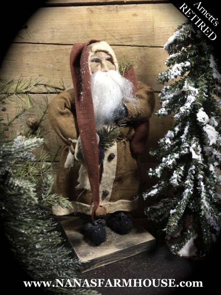 Arnett's Arnett's Santa Dark Brown with Small Red Stocking JC19
