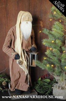 Arnett's Arnett's  Santa in Red Striped Night Shirt JC32