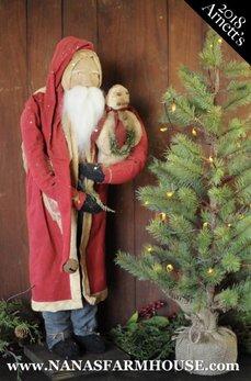 Arnett's Arnett's Tall Santa Holding Snowman JC1