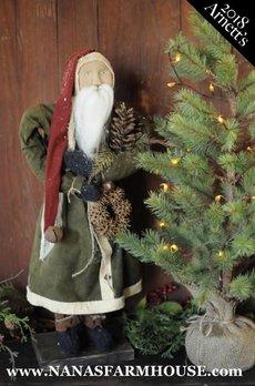 Arnett's JC6 Arnett's Santa Holding Wreath
