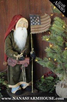 Arnett's Arnett's Santa with Tractor & Flag AC3