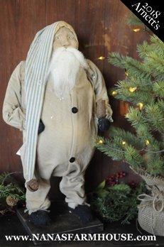 Arnett's Arnett's Santa in Union Suit Holding Candle AC12