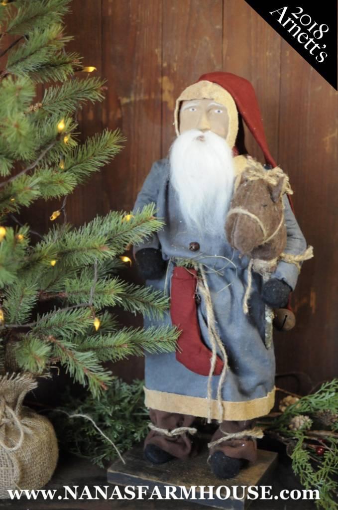 Arnett's Arnett's  Santa Holding Stick Horse TC1