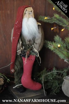 Arnett's AC6 Arnett's Santa Holding Red Stocking