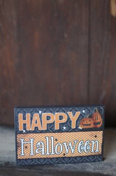 Happy Halloween Block Sign