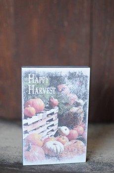 Happy Harvest Block Sign