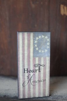 Heart Of America Block Sign