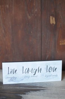 Live Laugh Love Block Sign