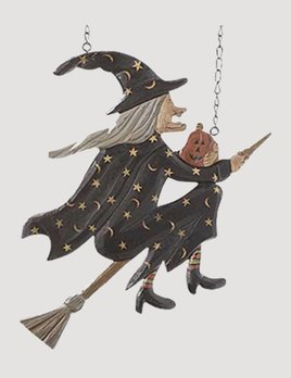 Flying Witch on Broomstick Arrow Replacement