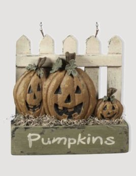 Pumpkins on Picket Fence Arrow Replacement