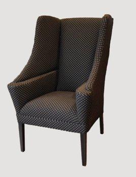 Tight Seat Chair Snowflake Black & Mustard
