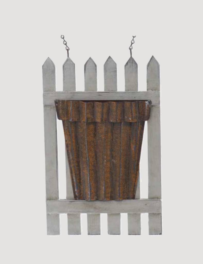White Wood Picket Fence Arrow Replacement