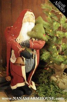 Arnett's Arnett's Santa Holding Cloth Tree & Jingle Bell JC15