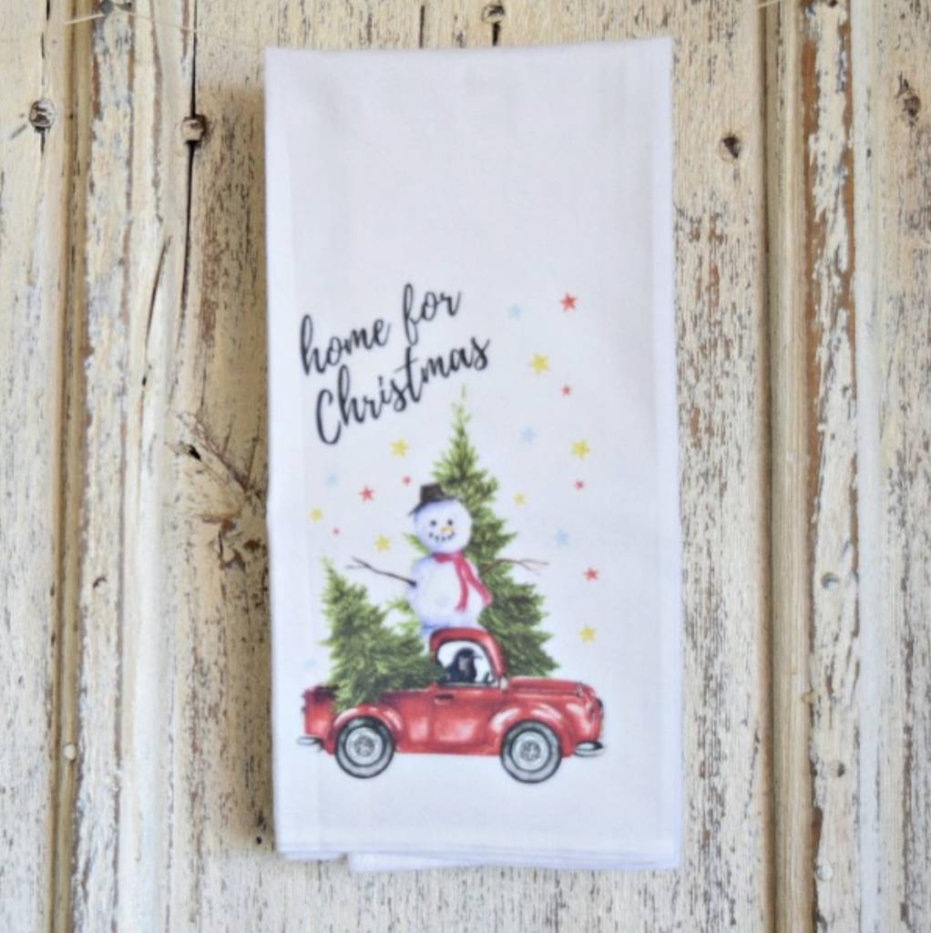 1803 Candles 1803 Home for Christmas Flour Sack Towel