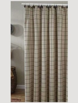 Fieldstone Plaid Shower Curtain - Black