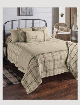 Fieldstone Plaid Queen Black Bedspread